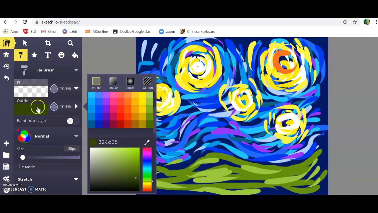 Starry Night with Sketchpad 5.1 - YouTube
