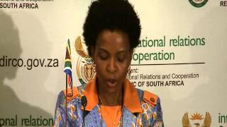 Minister Nkoana-Mashabane  hosts her Angolan counterpart