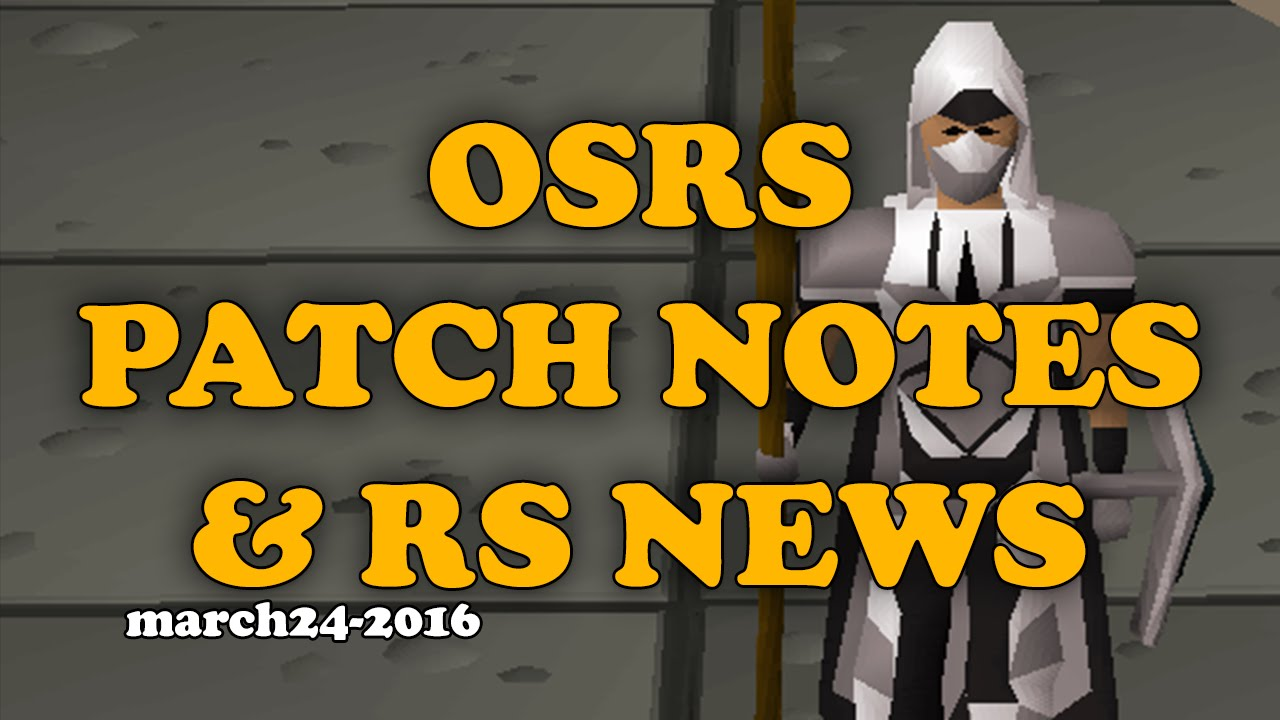 White apron osrs - Osrs Patch Notes Recap March 24th 2016 White Graceful Rs News Segment