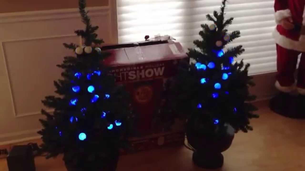 Incredible Holiday Light Show Christmas Tree