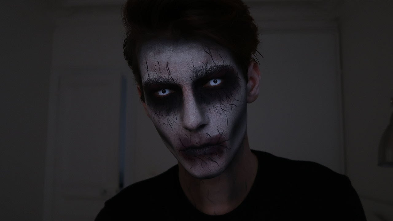 Super Easy Halloween Makeup For Men Youtube