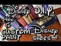 Disney DIY How to Custom Paint Disney Inspired Shoes: Disneyland's Sleeping Beauty Castle
