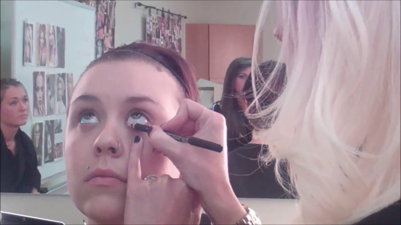 Avalon School of Cosmetology in Layton MAC Makeup Demo