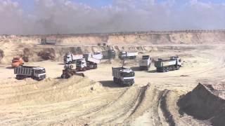 قناة السويس الجديدة: اللحظات الاخيرة قبل أنتهاء الحفر بأكبر  موقع حفر