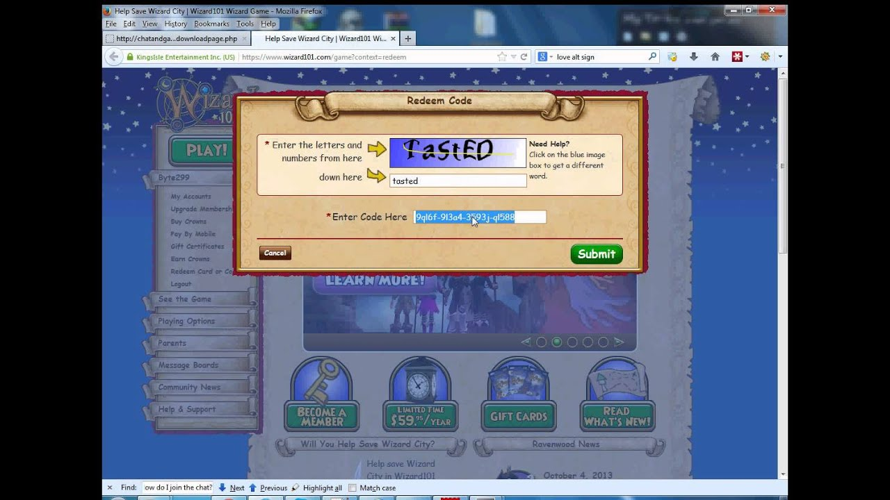 free wizard101 crown codes 2015