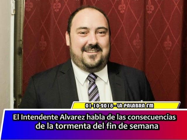 El intendente Alvarez habla acerca de las consecuencias despues de la tormeta