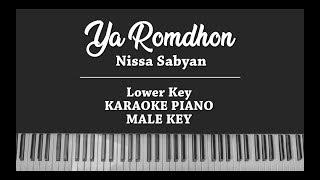 Ya Romdhon MALE KARAOKE PIANO COVER Nissa Sabyan
