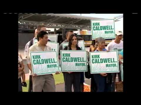 Caldwell Announces Run for Honolulu Mayor