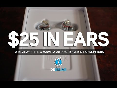 $25 IN EAR MONITORS!! // A Review of the GranVela A8 Dual Driver In Ears