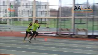 Relays - 4x1 Pairs Drill Stride/Sprint