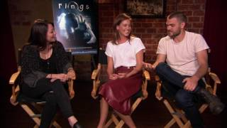 Rings' matilda lutz & alex roe love being scared | one take