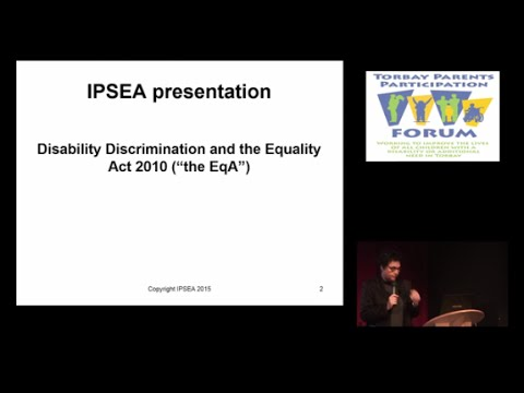 Disability Discrimination and the Equality Act 2010