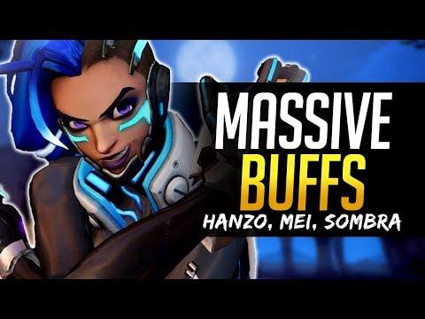 Overwatch MASSIVE BUFFS - Hanzo, Sombra, Mei, Doomfist