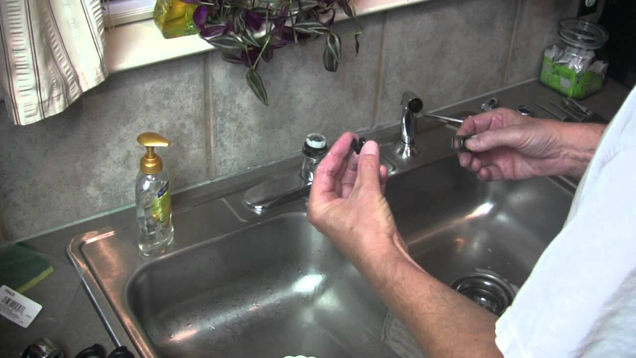 how to remove an old kitchen faucet moen kitchen faucet broken lever handle repair 27813