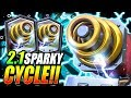 2.1 ELIXIR FASTEST SPARKY CYCLE DECK EVER!! TROLLING NOOBS!!