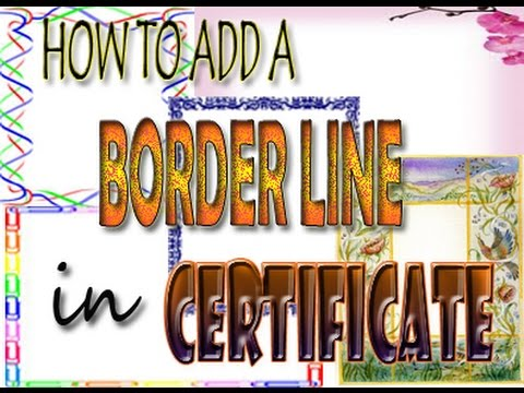 How to add border line in a certificate using Microsoft Word 2010 - make a certificate in word