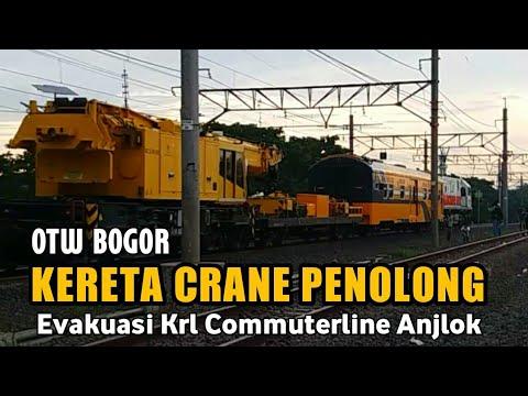 KLB KERETA CRANE PENOLONG Untuk Evakuasi Krl Commuterline yang Anjlok Di Bogor Tiba Di Jakarta
