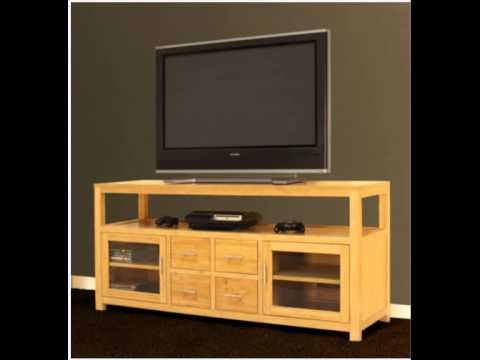 62 Bamboo Media Console Entertainment Center Tv Stand