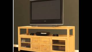 62 Bamboo Media Console Entertainment Center Tv Stand Review