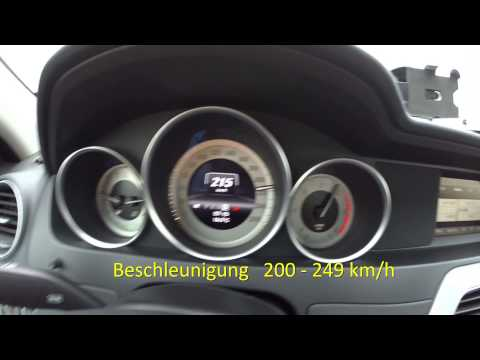 Der Holgi - RaceChip Chiptuning Pro 2 Mercedes Benz C220 CDI W204 Top Speed 251 km/h acceleration