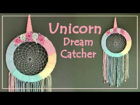 DIY Unicorn Dream Catcher - Arts and Crafts Ideas
