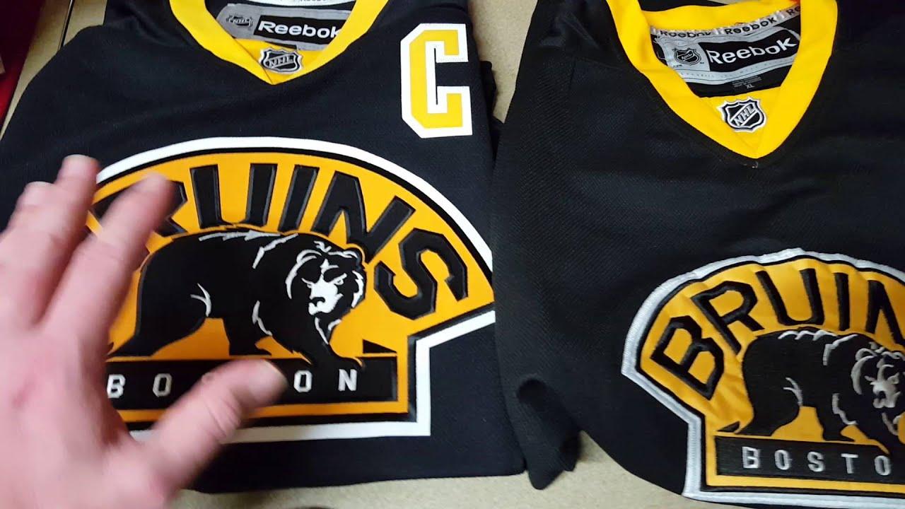 6cf68fa2f86 Real vs. Fake  Reebok Boston Bruins Alternate Jersey Comparison ...