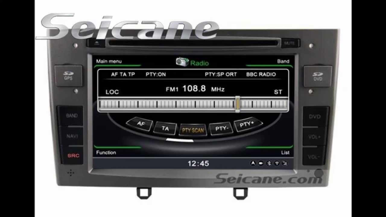 Oem peugeot 408 in dash dvd player navigation stereo with radio 3d gps map bluetooth cd