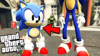 The BABY SONIC the HEDGEHOG saves his DAD (GTA 5 Mods)