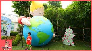 어린왕자 테마파크 키즈 카페 뽀로로 모험 놀이! 함께 어린이 기차 타기 ♡ 뽀로로장난감 어린왕자 모험 놀이 Kids Outdoor Park | 말이야와아이들 MariAndKids