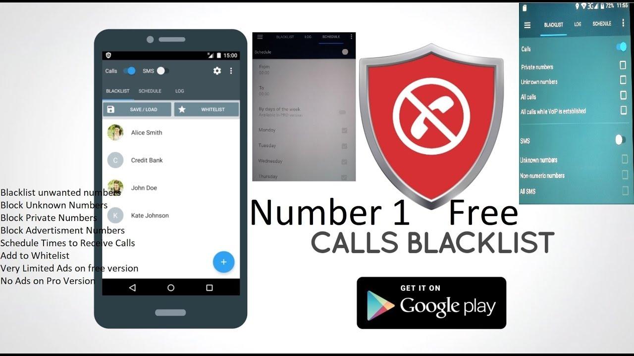 Calls blacklist app iphone