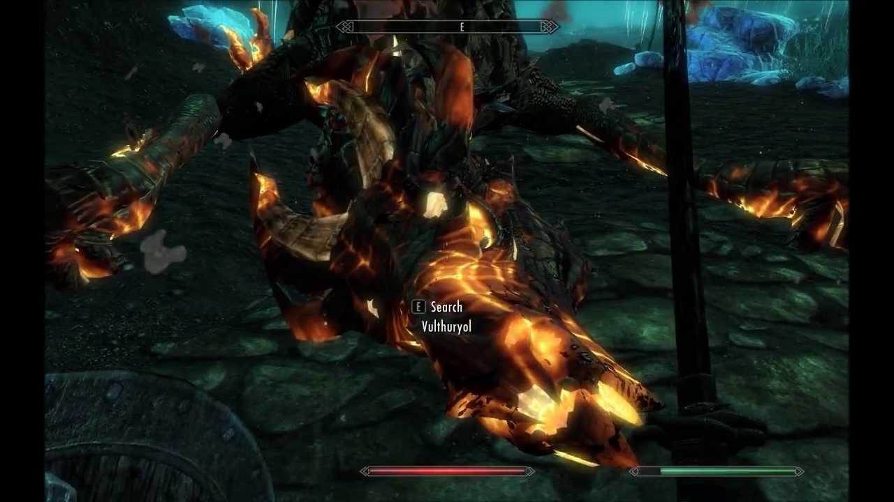 Blackreach Skyrim Dragon Pic