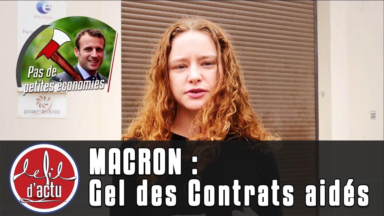 [Fil d'Actu] Macron : Gel des Contrats aidés