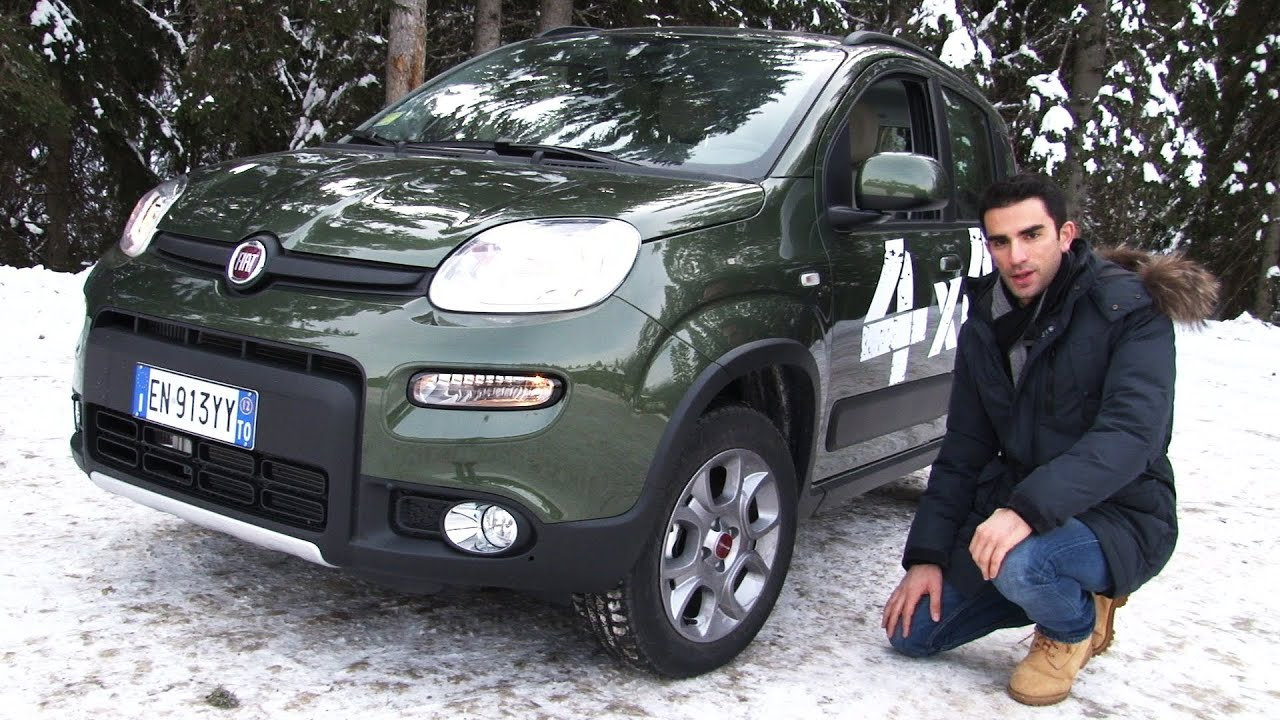 Nuova fiat panda 4x4 twinair la prova sulla neve youtube for Panda 4x4 youtube