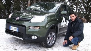 Nuova Fiat Panda 4x4 TwinAir, la prova sulla neve