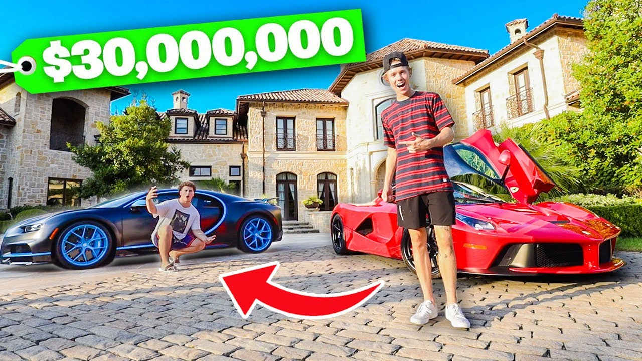 SWITCHING LIVES with a Billionaire's Son! (Full House Tour)