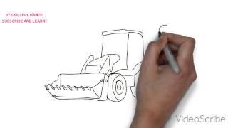 How to Draw a Tractor / Как нарисовать Трактор