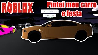 Roblox: Ultimate Driving Westover Islands #04-painted my car and party at the post!