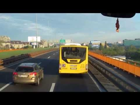 Leaving Belgrade, Serbia by Bus (Driving in Serbia)
