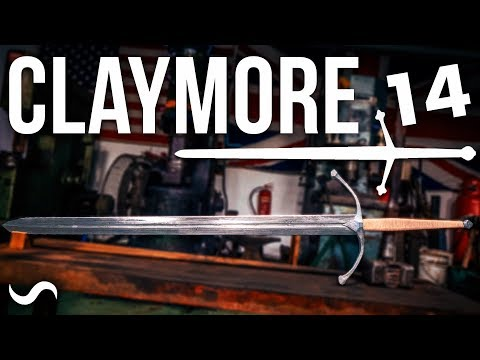 MAKING A SCOTTISH CLAYMORE SWORD!!! PART 14 - FINISHED