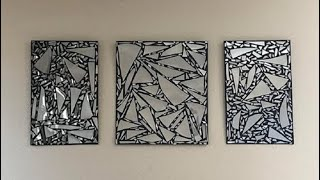 DIY Broken Mirror Wall Art Decor