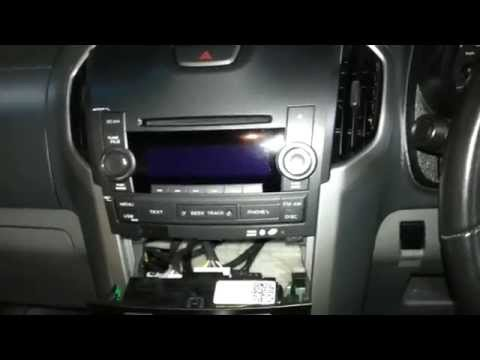 How to remove the  factory radio from a Holden Colorado