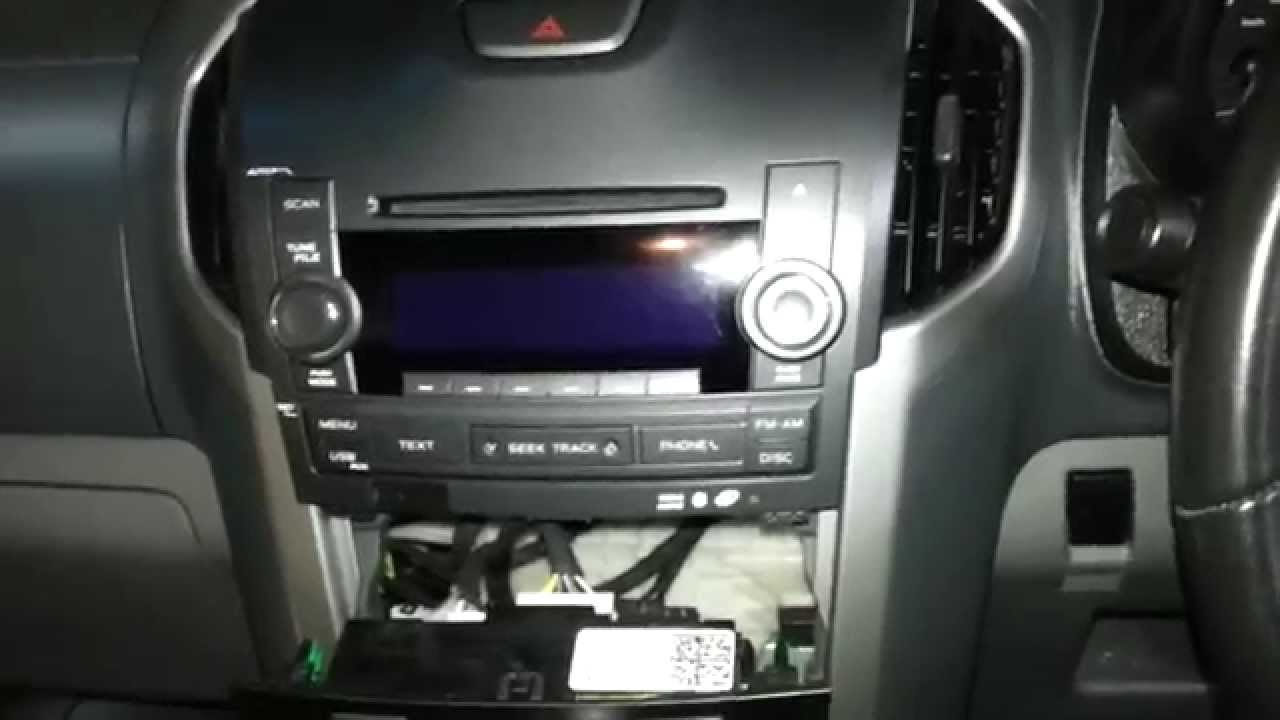 2004 Trailblazer Wiring Diagram How To Remove The Factory Radio From A Holden Colorado
