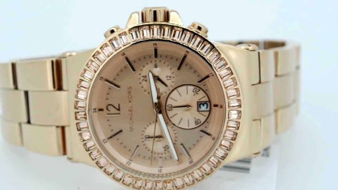 4d02283d576d MK5412 Michael Kors Rose Gold Tone Bracelet Watch - YouTube