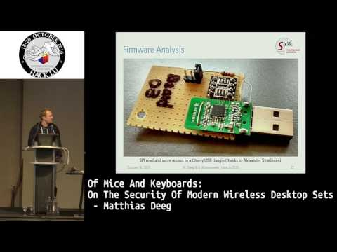 Hack.lu 2016 Of Mice and Keyboards: On the Security of Modern Wireless Desktop Sets
