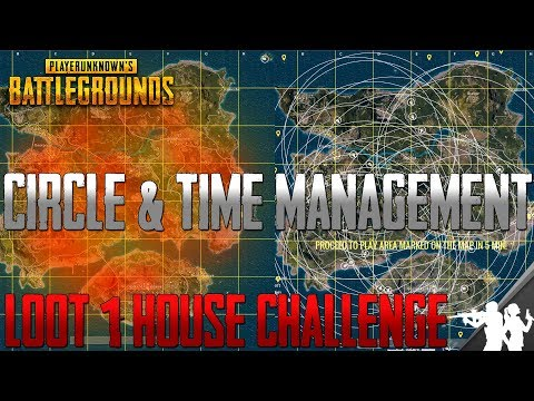 Circle & Time Management in PUBG | Loot 1 House Challenge | Circle, Timer, Loot, Vehicle Tips