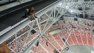 level4: NDP 2016 Rescue. Singapore stadium Practice rope access rescue