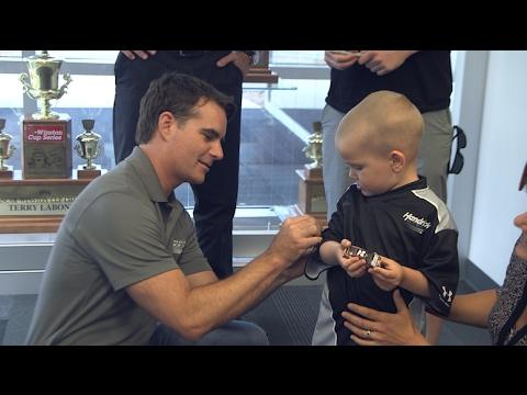 Hendrick Motorsports, Make-A-Wish help 4-year-old