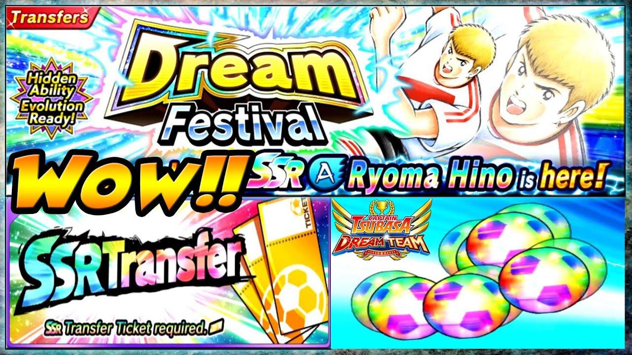 GACHA 7 SSR TIKET & Bahas UPDATE + DREAMFEST Ryoma Hino V2 🔥 Captain Tsubasa Dream Team