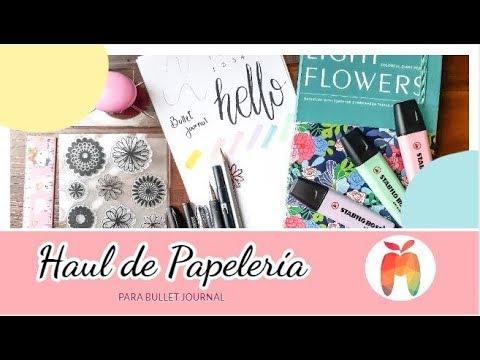 HAUL DE PAPELERIA | Para Bullet Journal | Chile 2018 | Mas que una Manzanza