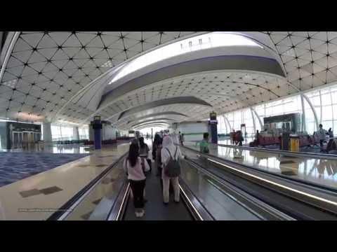 【Hong Kong Walk Tour】Hong Kong International Airport: Walking to Gate # 205 at Midfield Concourse
